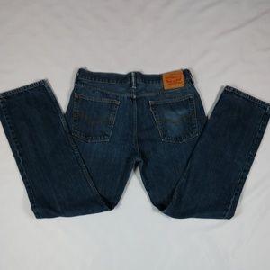 W36 L32 Levi's 100%Cotton Men's 514 Blue Jean